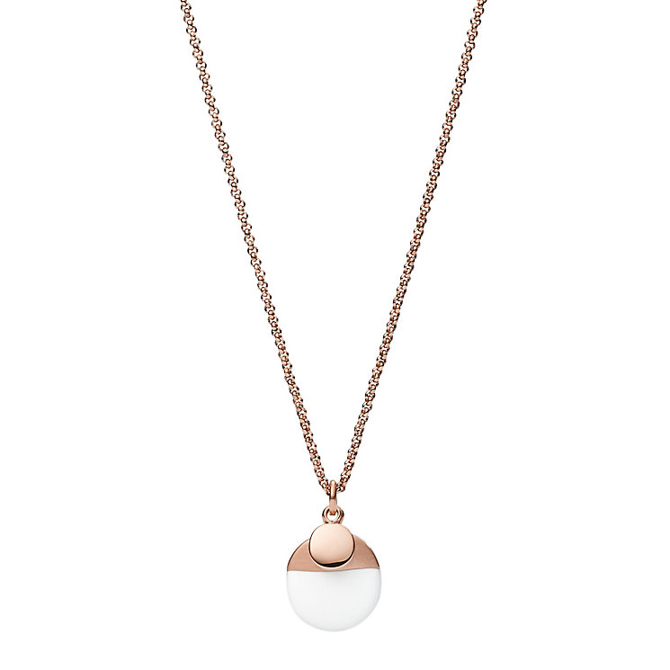 Fossil Rose Gold Tone Necklace - Product number 4842979