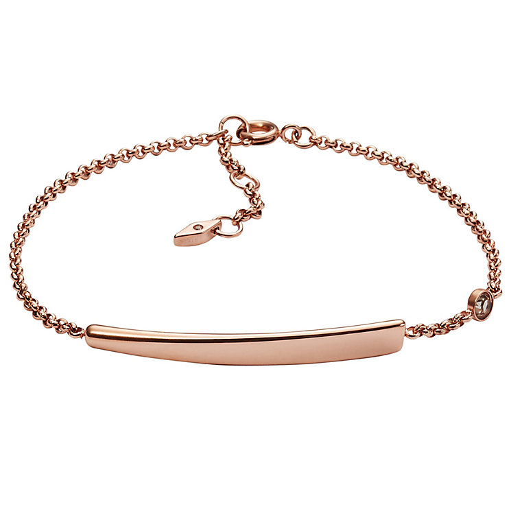 Fossil Iconic Rose Gold Tone Bracelet - Product number 4843126
