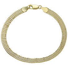 9ct Yellow Gold Flat Box Bracelet - Product number 4843444