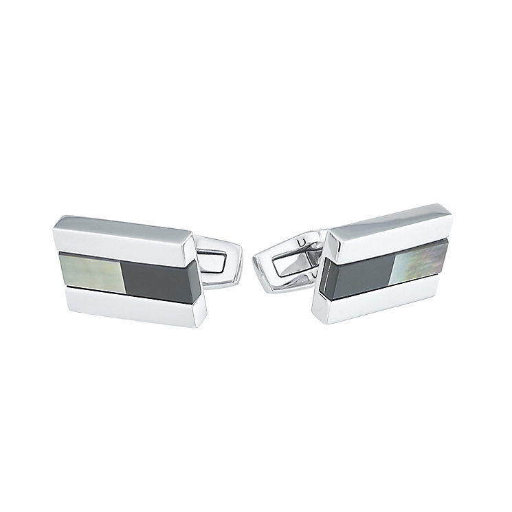 Hugo Boss Men's Stainless Steel Cufflinks - Product number 4843851