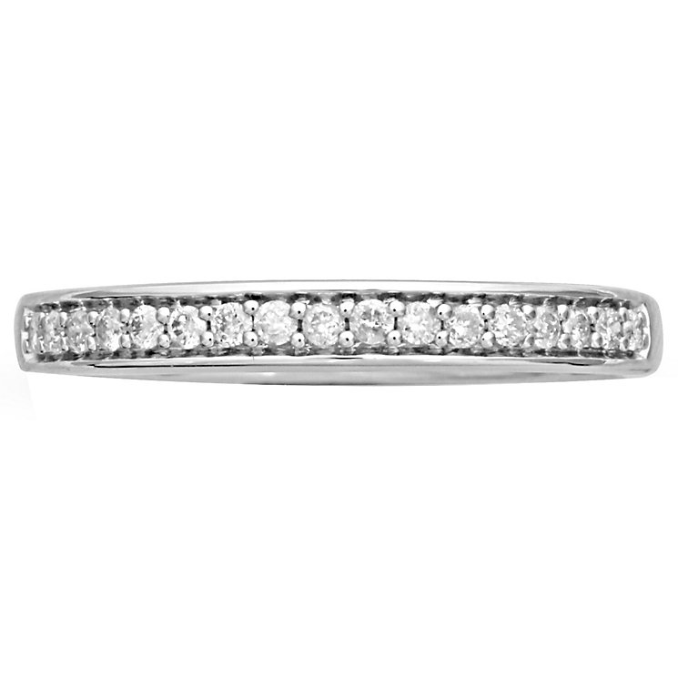 18ct White Gold Diamond Band - Product number 4844815