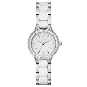 DKNY Ladies' Two Colour Stone Set Bracelet Watch - Product number 4847911