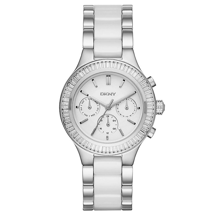 DKNY Ladies' Stainless Steel Ceramic Bracelet Watch - Product number 4847970