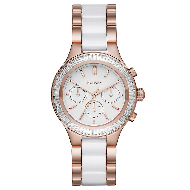 DKNY Ladies' Two Colour Stone Set Bracelet Watch - Product number 4848020