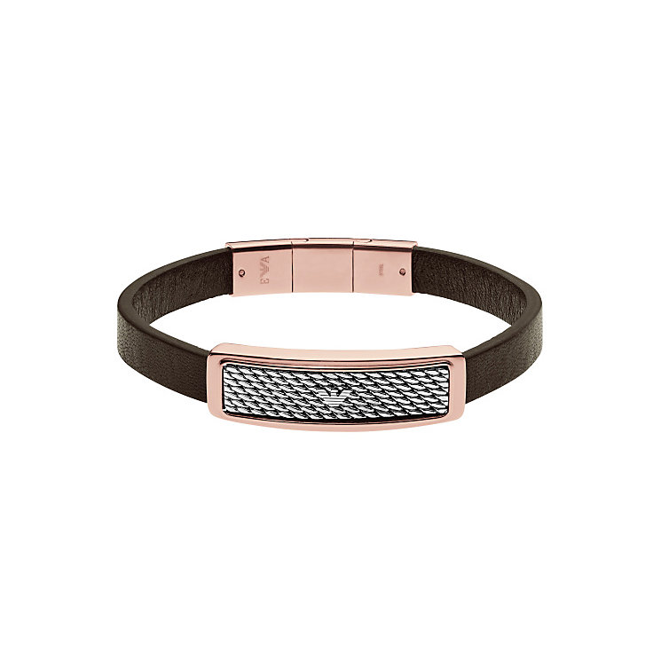 Emporio Armani Men's Two Colour Leather Bracelet - Product number 4848217
