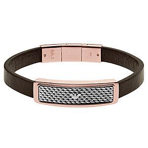 Emporio Armani Men's Two Colour Leather Bracelet - Product number 4848217