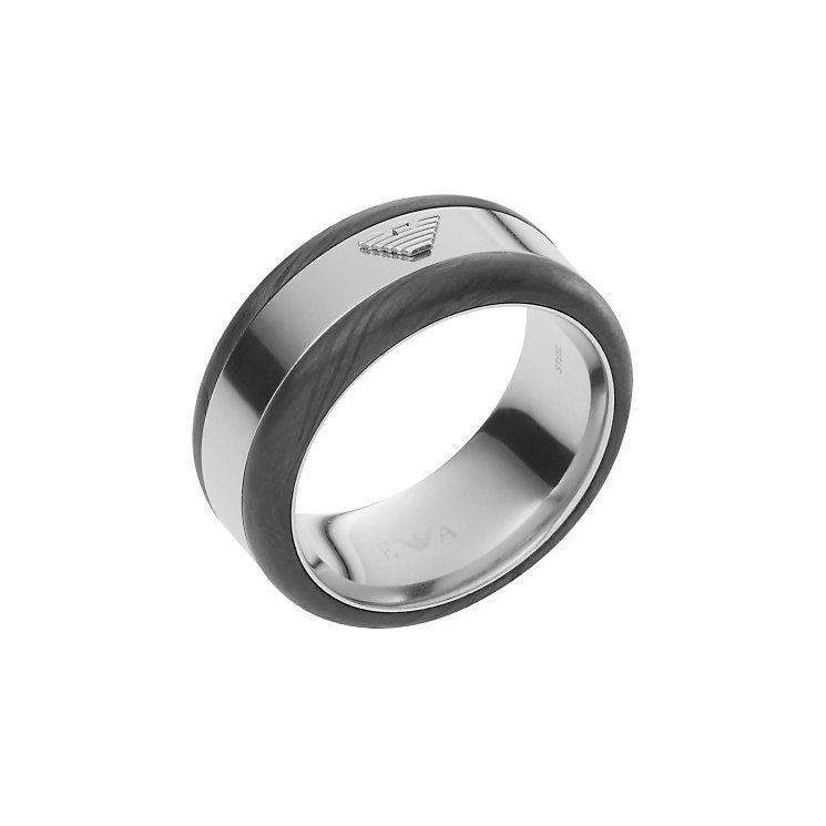 Emporio Armani Men's Stainless Steel Ring Size U - Product number 4848276