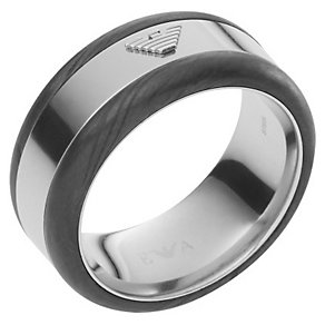 Emporio Armani Men's Stainless Steel Ring - Product number 4848276