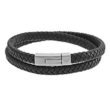 Emporio Armani Men's Stainless Steel Black Bracelet - Product number 4848438
