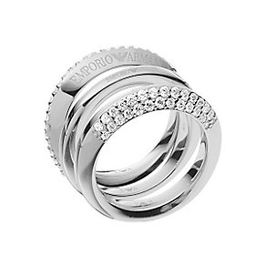 Emporio Armani Sterling Silver Ring Size P - Product number 4848551