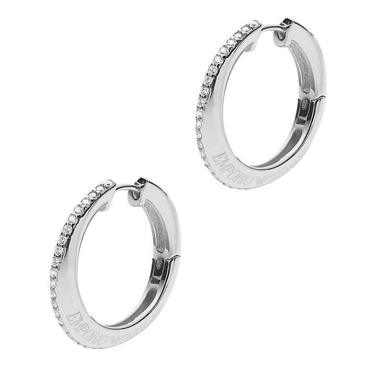 Emporio Armani Stainless Steel Stone Set Earrings - Product number 4848594