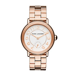 Marc Jacobs Riley Ladies' Rose Gold Tone Bracelet Watch - Product number 4849205