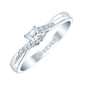 The Forever Diamond 9ct White Gold 1/4ct Solitare Ring - Product number 4849582