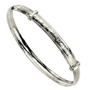 Children's Silver Heart Expander Bangle - Product number 4862104