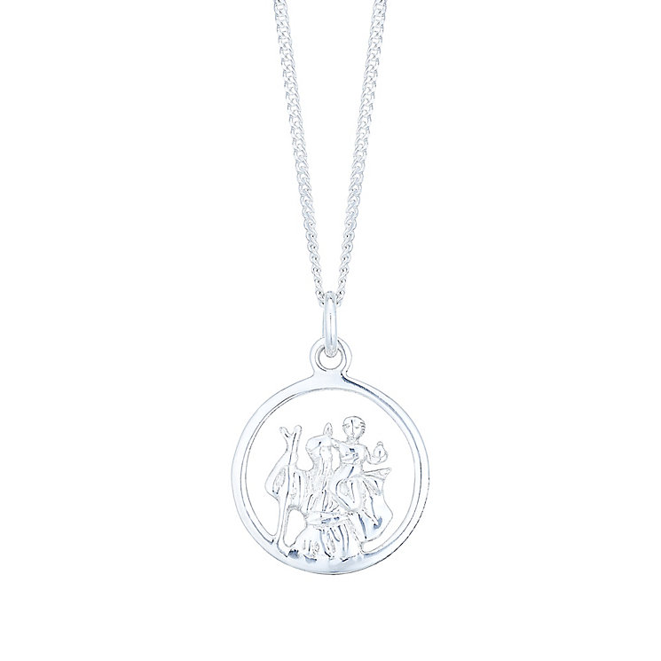 Sterling Silver Cut Out St Christopher Pendant - Product number 4863305