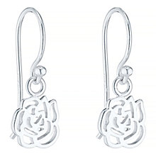 Sterling Silver Small Flower Drop Earrings - Product number 4863461