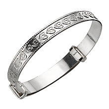 Child's Silver Celtic Heart Expander Bangle - Product number 4864107