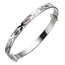 Child's Silver Diamond-Cut Expander Bangle - Product number 4864239