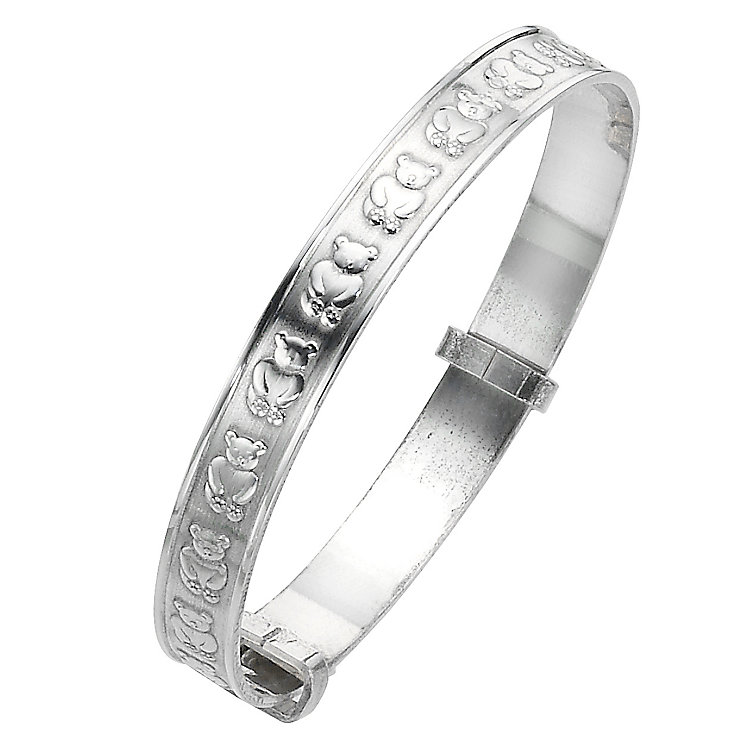 Sterling Silver Child's Teddy Expander Bangle - Product number 4872002