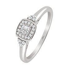 9ct White Gold 1/4 Carat Diamond Princessa Ring - Product number 4876156