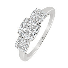 9ct White Gold 0.43 Carat Princessa Ring - Product number 4876458