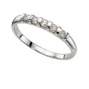 9ct White Gold 1/4 Carat Diamond Bar Eternity Ring