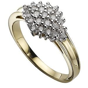9ct Gold 1/4 Carat Ring