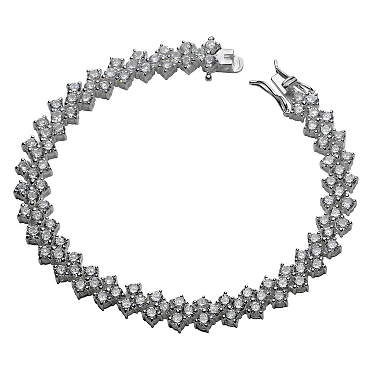 Sterling Silver Cubic Zirconia Bracelet - Product number 4892836