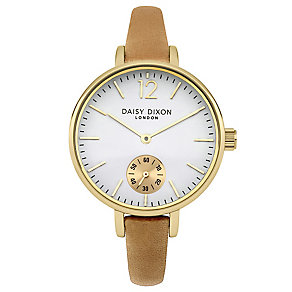 Daisy Dixon Gracie Ladies' Warm Brown Leather Strap Watch - Product number 4896696