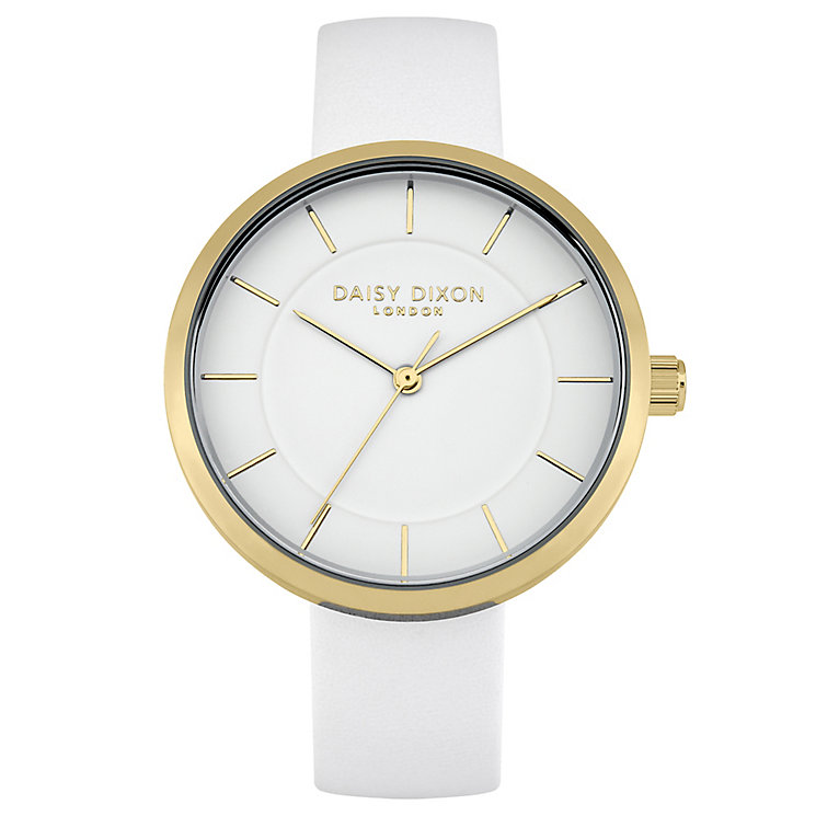 Daisy Dixon Taylor Ladies' White Leather Strap Watch - Product number 4896750