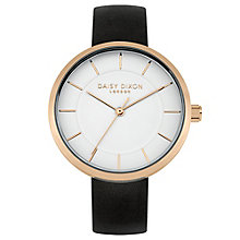 Daisy Dixon Taylor Ladies' Black Leather Strap Watch - Product number 4896769