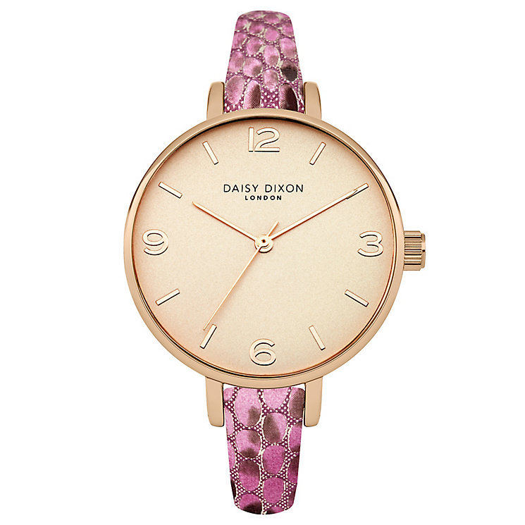 Daisy Dixon Sophia Pink Metallic Strap Watch - Product number 4896777