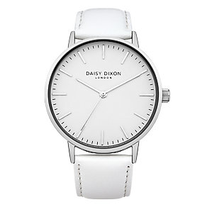 Daisy Dixon Alexa Ladies' White Leather Strap Watch - Product number 4896920