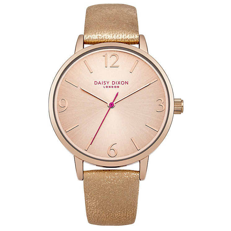 Daisy Dixon Rosie Ladies' Gold Metallic Leather Strap Watch - Product number 4896947