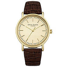 Daisy Dixon Georgia Ladies' Brown Croc Leather Strap Watch - Product number 4896998