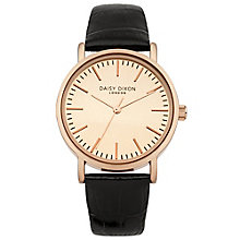 Daisy Dixon Georgia Ladies' Black Croc Leather Strap Watch - Product number 4897005