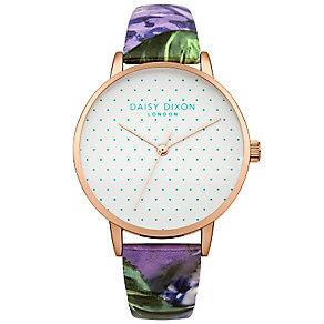Daisy Dixon Suki Ladies' Multi Blue Base Leather Strap Watch - Product number 4897021