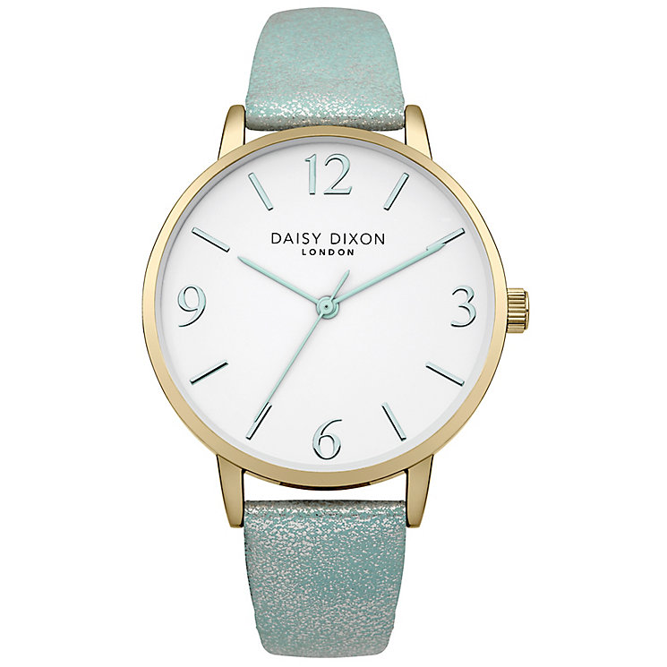 Daisy Dixon Rosie Ladies' Blue Metallic Leather Strap Watch - Product number 4897048