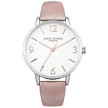 Daisy Dixon Rosie Ladies' Pink Metallic Leather Strap Watch - Product number 4897064