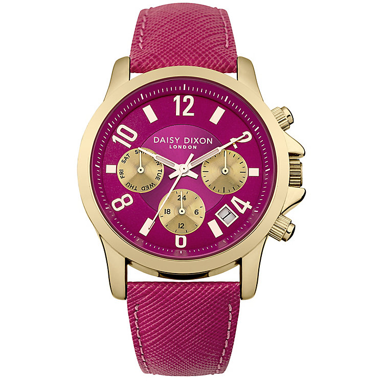 Daisy Dixon Adriana Ladies' Pink Leather Strap Watch - Product number 4897072