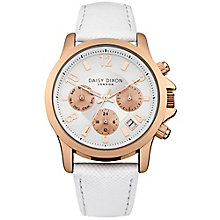 Daisy Dixon Adriana Ladies' White Leather Strap Watch - Product number 4897080