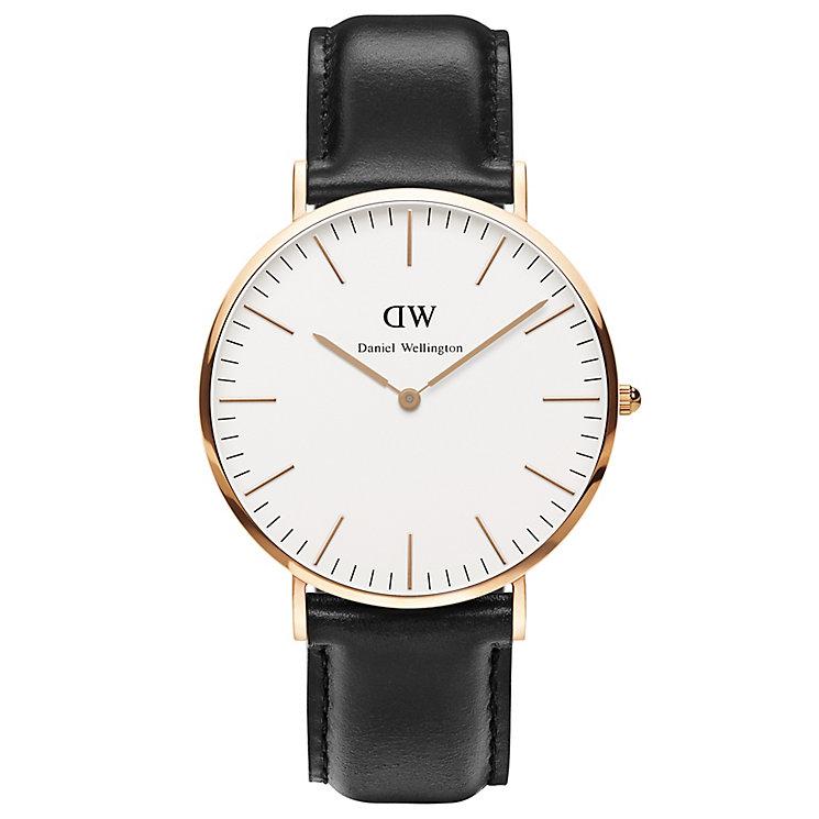 Daniel Wellington Sheffield Men's Black Leather Strap Watch - Product number 4899431