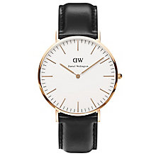 Daniel Wellington Sheffield Men's Black Leather Strap Watch - Product number 4899431
