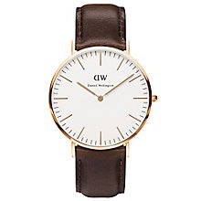 Daniel Wellington Bristol Men's Brown Leather Strap Watch - Product number 4899458