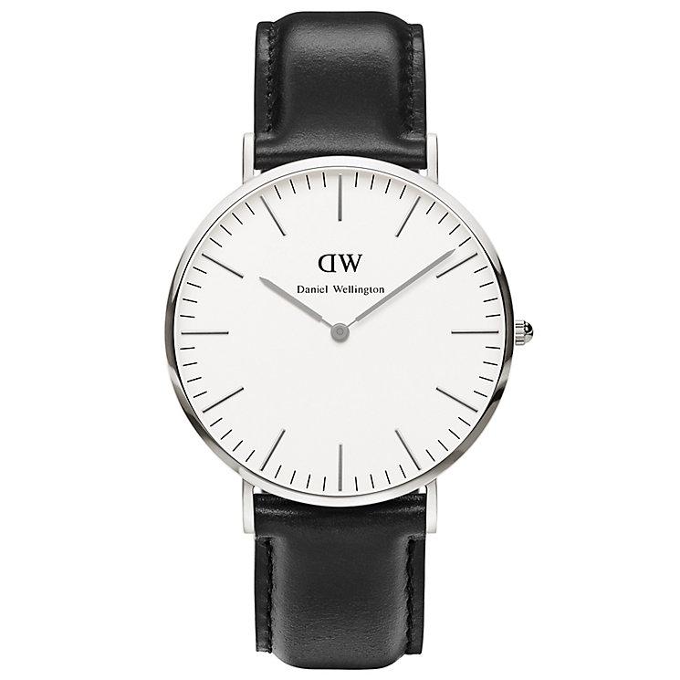 Daniel Wellington Sheffield Men's Black Leather Strap Watch - Product number 4899482