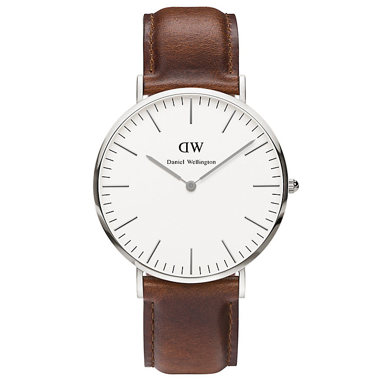 Daniel Wellington St Mawes Men's Brown Leather Strap Watch - Product number 4899490