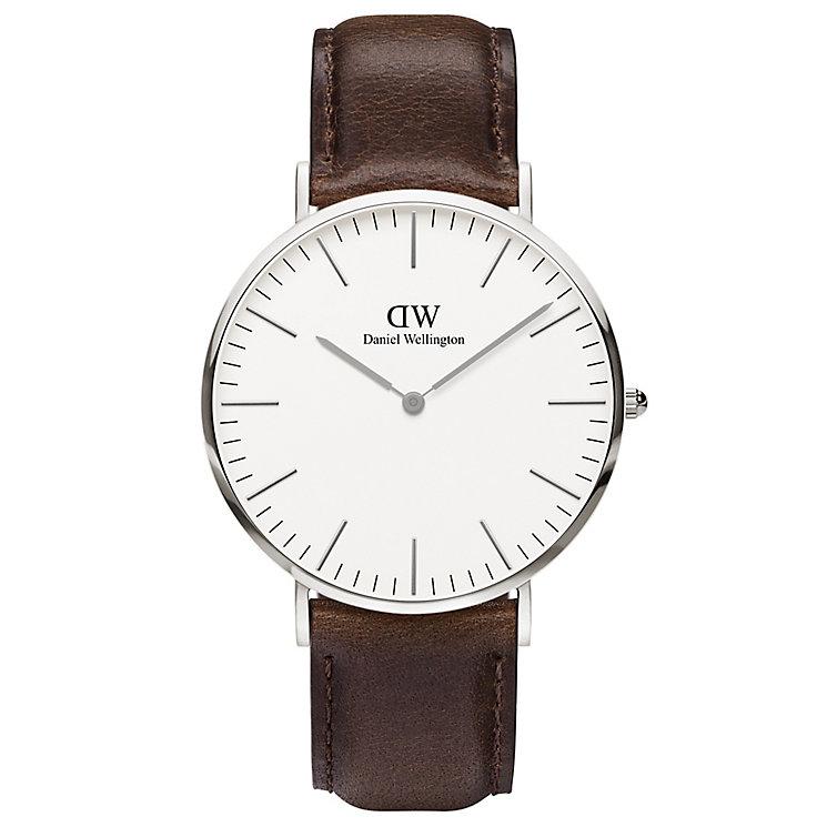 Daniel Wellington Bristol Men's Brown Leather Strap Watch - Product number 4899504