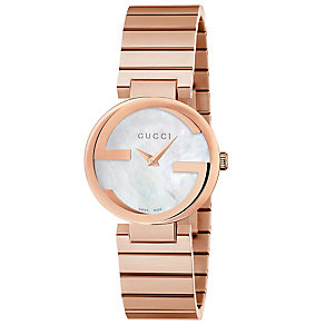 Gucci Ladies' Rose Gold Plated Bracelet Watch - Product number 4899512