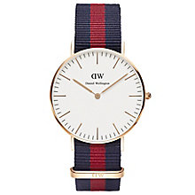 Daniel Wellington Oxford Ladies' Navy & Red NATO Strap Watch - Product number 4899520