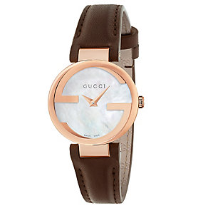 Gucci Ladies' Rose Gold PVD Strap Watch - Product number 4899539